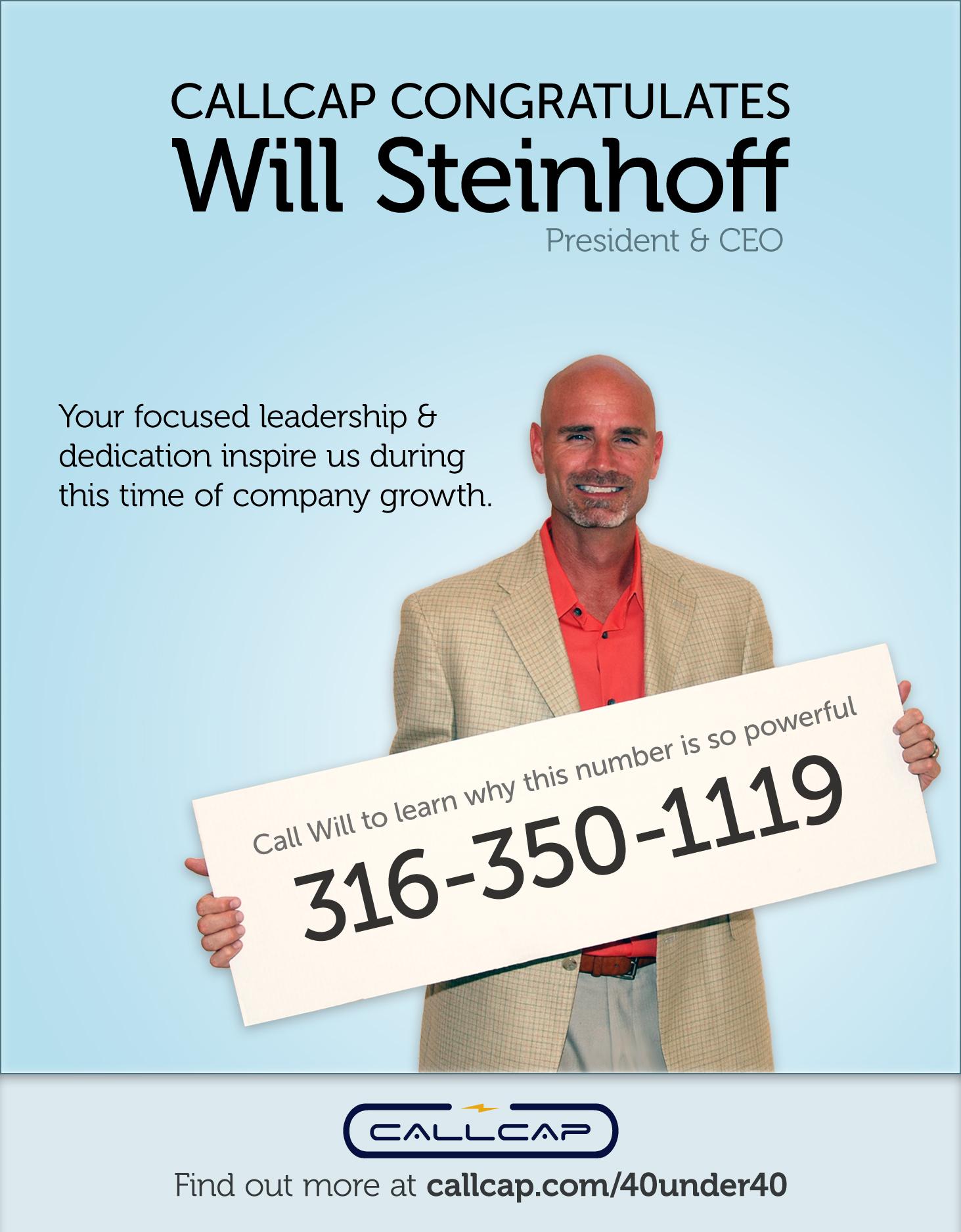 Will Steinhoff, 40 under 40