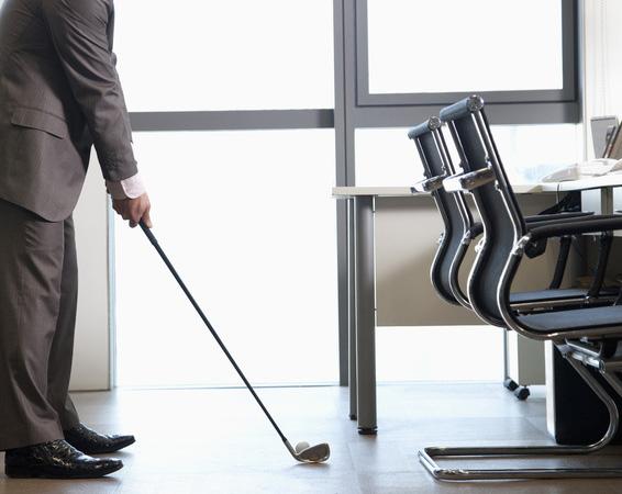 Golf in office